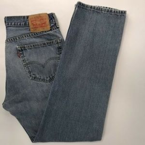 Levis 505 Mens Jeans Regular Fit Straight Size 33